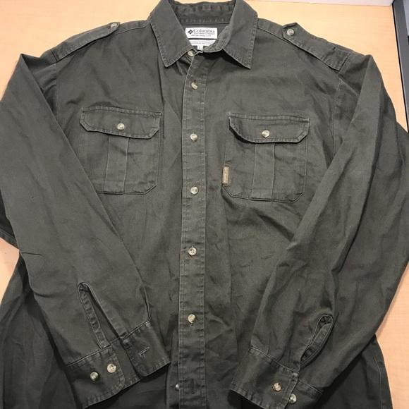 02efaaeff0d Columbia Shirts | Military Long Sleeve Button Up Shirt | Poshmark